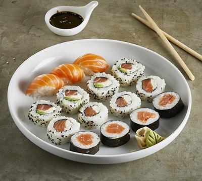 Combinado salmon fresco x 15